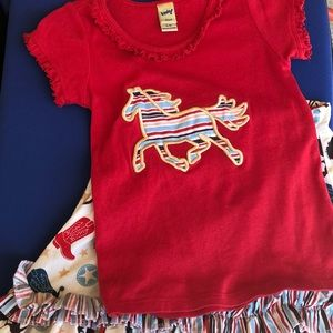 Other - Cow girl shirt and skirt set size 5/6